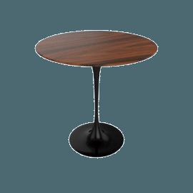 Saarinen Side Table - Rosewood - Black.Rosewood