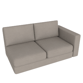 Eterno 2 Seater With Right Arm, Sand
