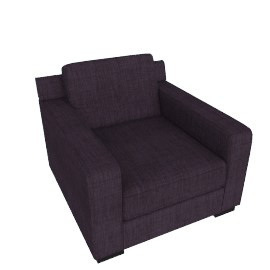 Porter Arm Chair, Midnight Purple