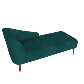 Margot RHF Chaise, Peacock Blue Velvet
