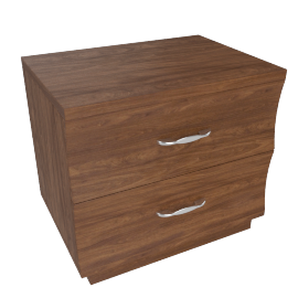Scoop Night Stand -Walnut