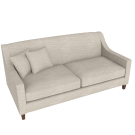 Halston 3 Seater Sofa, Cream