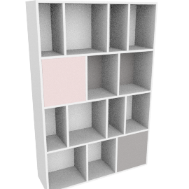 Stretto large shelving unit, multicolor