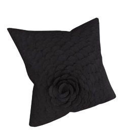 Plume Cushion, Black