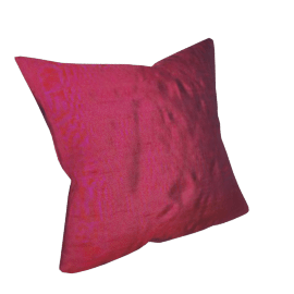 Silk Cushion, Fuchsia