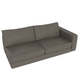 Reid One-Arm Sofa, Right in Leather, Slate