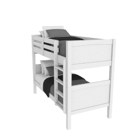 Hickory Bunk Bed, White