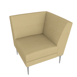 Libre Curved Corner Component - Fabric 2