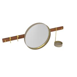 Ren - Wall mirror with Hangers, Talpa