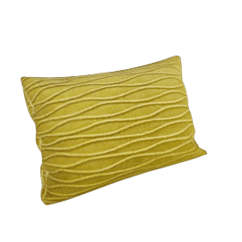 Velvet Ripple Cushion, Green