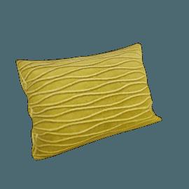 Velvet Ripple Cushion, Green
