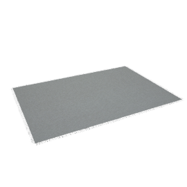 Chilewich Market Fringe Large Floor Mat, Quartz