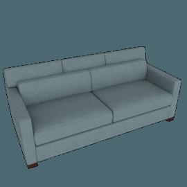 Vesper Queen Sleeper Sofa, Ducale Wool - Robins Egg