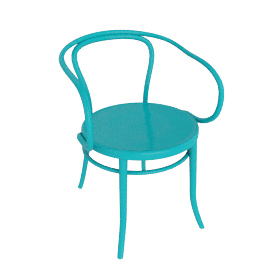 Era Round Armchair - Turquoise