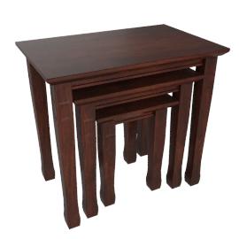 Greco Nest of Tables, Dark Walnut