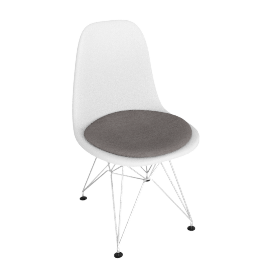 Eames DSR Upholstered Side Chair
