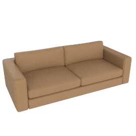 "Reid 86"" Sofa in leather, clay"