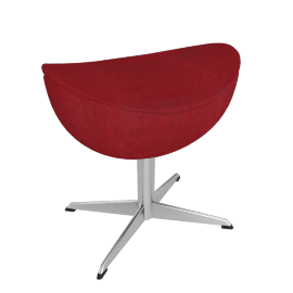 Egg™ Footstool - Fame Fabric - Red