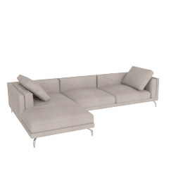 Como Sectional Left Chaise, Pebble Weave - Buff