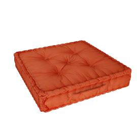 Floris Floor Cushion - 60x60 cms, Orange