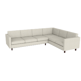 Goodland Large Sectional Walnut, Basket Weave Wheat