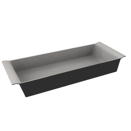 Ceramic Rectangular Dish, Black, L36cm
