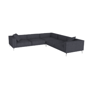 Como Corner Sectional in fabric, Coal