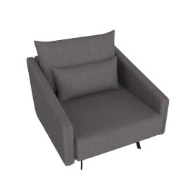 Costura Armchair, Stone, Linen Weave