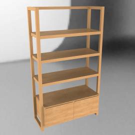Lincoln Shelving Unit, 2 drawers