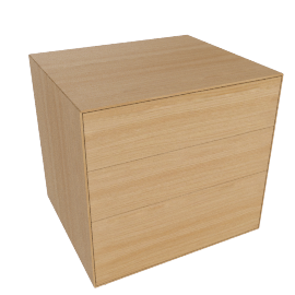Lauki Bedside Table, Oak