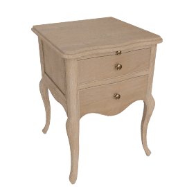 Etienne 2 Drawer Bedside Table, Oak