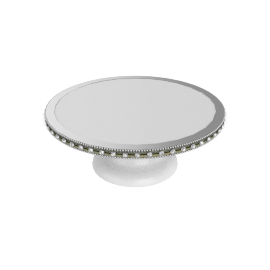 Dhurma Cake Stand with Jewelled Border - 27 Dia