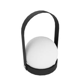 Carrie Portable LED Lantern, Black