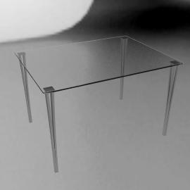 Mystic 6 Seater Rectangular TableGlass