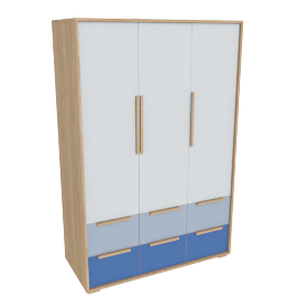 Benni 3 Drawer Wardrobe