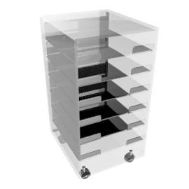 Ice 6 Drawer Filing Cabinet