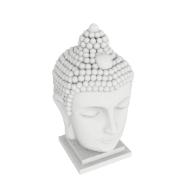 Buddha with LED Light - 30x29x48 cms
