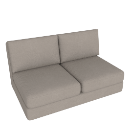 Eterno 2 Seater Armless, Sand