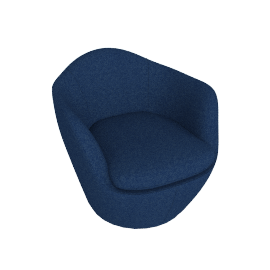 Lina Swivel Chair, Noble fabric - Heathered Twilight