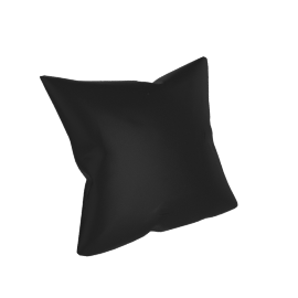 Como Throw Pillow in Leather, Black