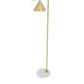 Captain Flint LED Floor Lamp, Brass