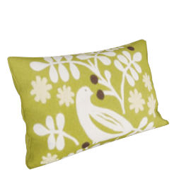 Bertie Bird Cushion, Catkin Green