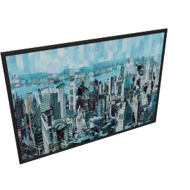 Time Square Framed Canvas Print - 100x4.3x70 cms