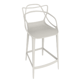 Masters Counter Stool, White