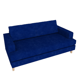 Mistral 3 Seater Sofa, Velvet Midnight