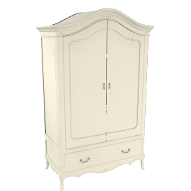 Rose 2 Door Wardrobe, Ivory