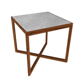 Krusin Side Table with Marble Tabletop - Wlnt.Arbes.Stn