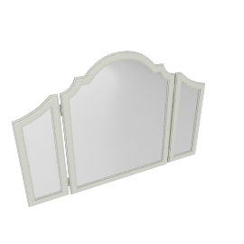 Mono Suzani Tri-Fold Mirror