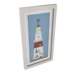 Sally Swannell- Light House Framed Print, 37 x 68cm