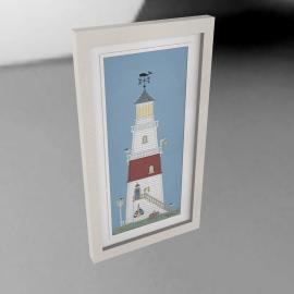 Sally Swannell- Light House Framed Print, 37 x 68cm
